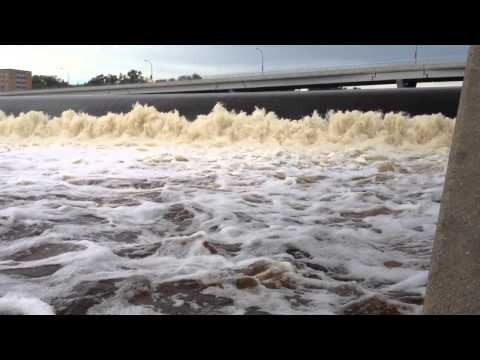 Fishing For Small Mouth Bass In Mississippi River At St Cloud, MN