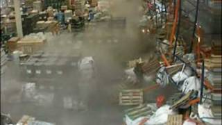 Forklift Collapses Shelves
