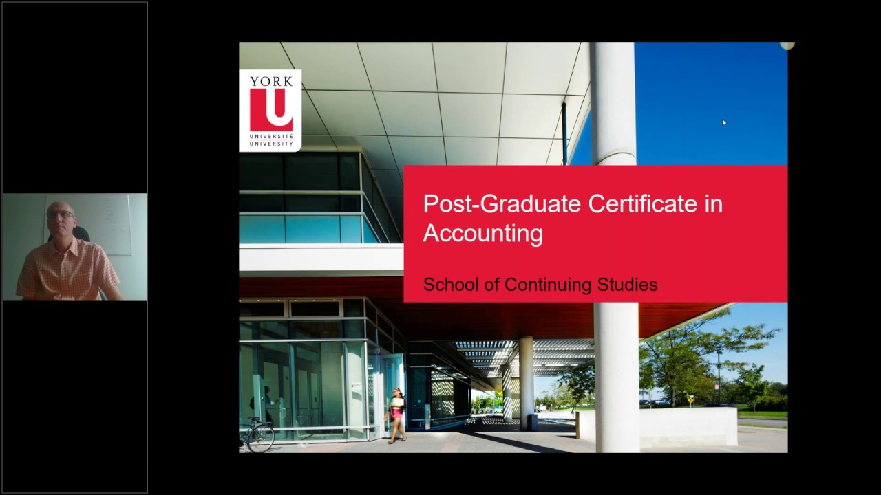 Post Graduate Certificates In Accounting Youtube