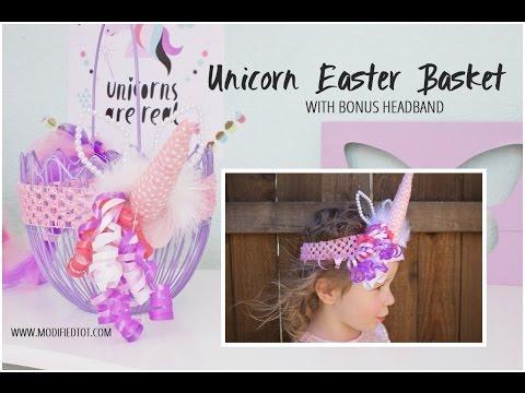 Unicorn East Basket & Headband