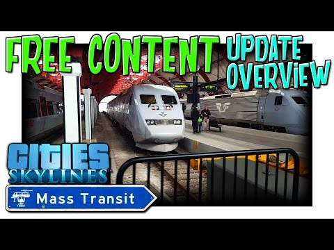 Cities Skylines Mass Transit Free Content Overview