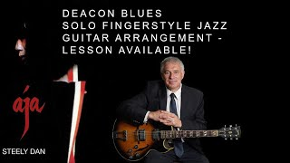 Deacon Blues, Steely Dan, Solo Fingerstyle Guitar Arrangement by Jake Reichbart