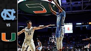 North Carolina vs. Miami Basketball Highlights (2018-19)