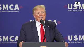 Pres. Trump delivers remarks on U.S, Mexico and Canada agreement