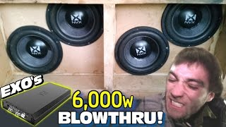SHE POUNDS at 6000 Watts! EXO's Blowthrough BASS DEMO w/ 12