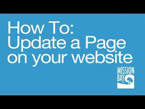 How To Update An Existing Page On Your Website