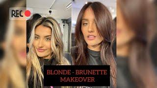 BLONDE to BRUNETTE transformation  ||  VLOG