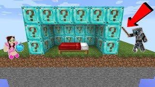 Minecraft: *BIG SURPRISE* NOOB VS PRO LUCKY BLOCK BEDWARS! - Modded Mini-Game