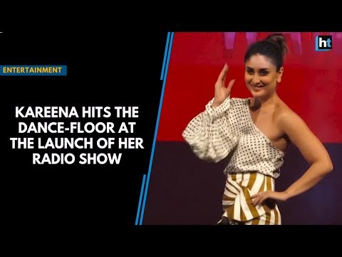 Kareena hits the dance-floor at the launch of her radio show