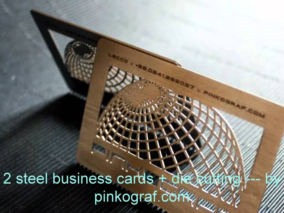 Metal business cards - Steel or Aluminium printed full colors! - YouTube