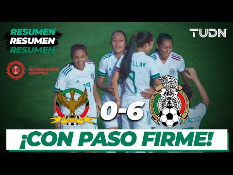 Resumen y Goles | St. Kitts & Nevis 0 - 6 México | Preolímpico Femenil | TUDN