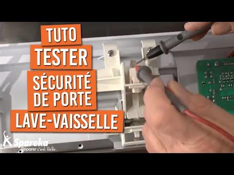 Tester la s curite porte du lave vaisselle youtube - Machine a laver la vaisselle bosch ...