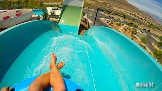 4k hoover half pipe water slide wet n wild water park las vegas