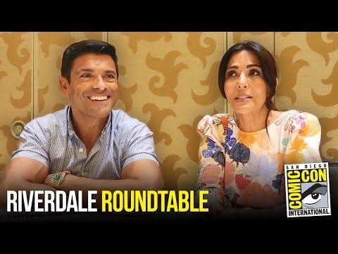 Marisol Nichols & Mark Consuelos Riverdale Roundtable  at Comic Con 2018