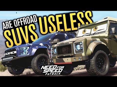 SUVS ARE USELESS!!!   Need for Speed Payback Freeroam