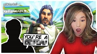 He called me WHAT?! Pokimane plays with TOXIC Fortnite Duo?!
