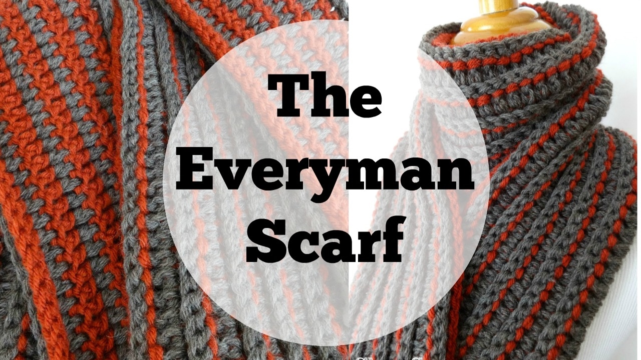 Free Crochet Patterns For A Man s Scarf : Episode 171: How to Crochet the Every Man Scarf - YouTube