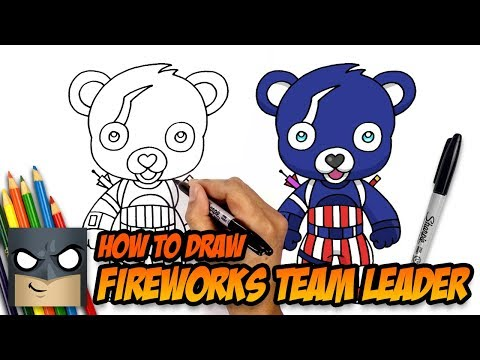 How to Draw Fortnite | Fireworks Team Leader | Step-by-Step
