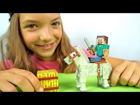 МАЙНКРАФТ!  Лучшая подружка Света - Приручаем лошадь. Видео для детей!