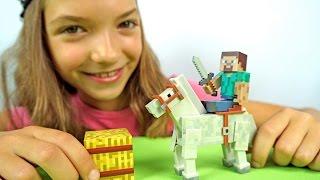 Майнкрафт видео - Приручаем лошадь.