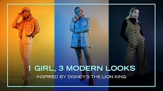 1 Girl, 3 Modern Looks Inspired By Disney's The Lion King | Fashion by Disney Style