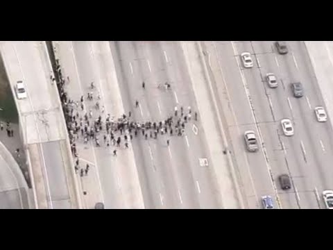 Watch Live: Protesters Blocked Off The 405 Freeway, Protests In Place | NBCLA