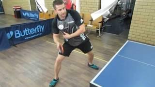 Уроки настольного тенниса: топ спин справа в перемещении