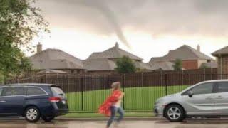 Teacher Looks Like Superhero Warning Parents About Tornado