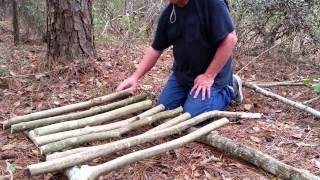 Primitive Camping Raised Bed Sleep Cot Simple Bushcraft Survive And Thrive Eagle Jon