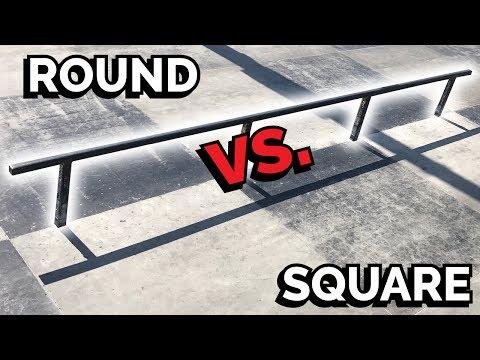SQUARE SKATE RAILS Vs ROUND SKATE RAILS