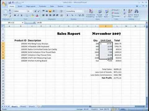 Formatting Currency With Excel