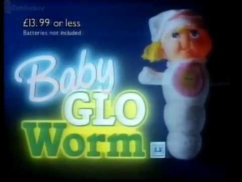 Baby Glo Worm 1980s (Vintage toy Advert)
