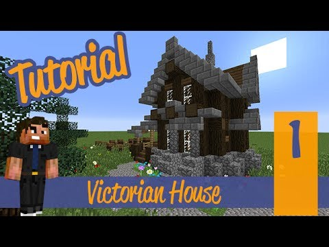 Minecraft Tutorial - Small Survival Victorian Mansion/House Ep. 1 Ps4/Ps3/Xbox360/PE/PC