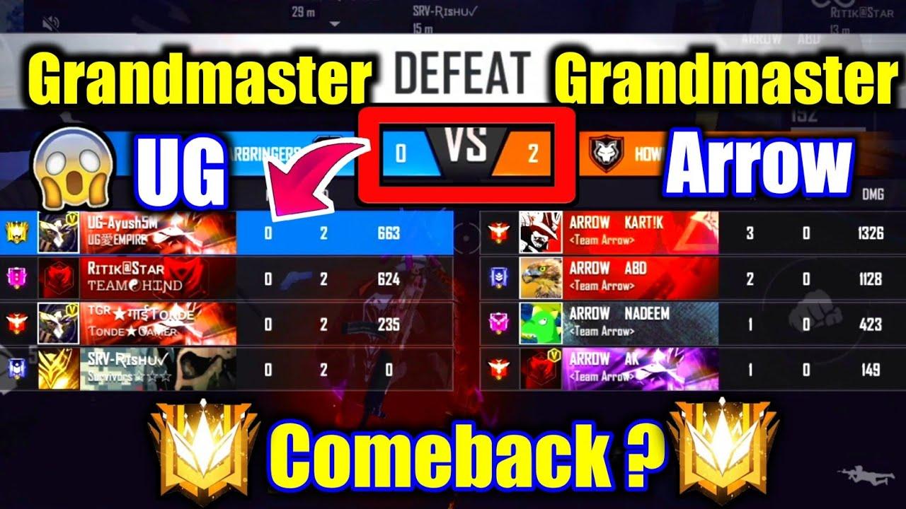Legend Arrows VS Grandmaster UG😰🔥0-2 Best Comeback on Grandmaster !!