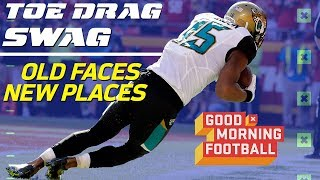 Best Toe-Drag Catches from WR's in New Places with Analysis | NFL Network
