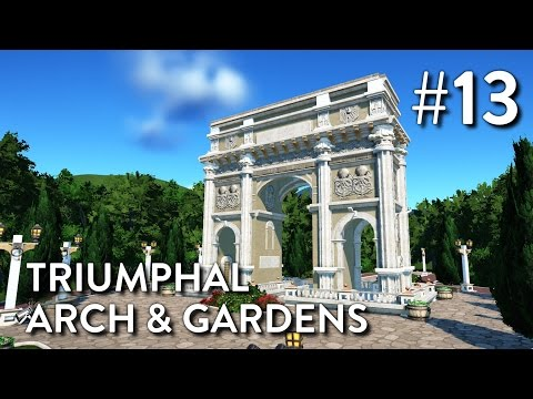 Planet Coaster: Grizzly Valley (Part 13) - Triumphal Arch & Gardens