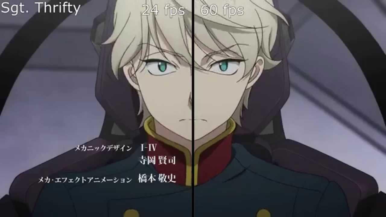 Anime 24 fps vs 60 fps . High Framerate Anime Project. Aldnoah Zero ...