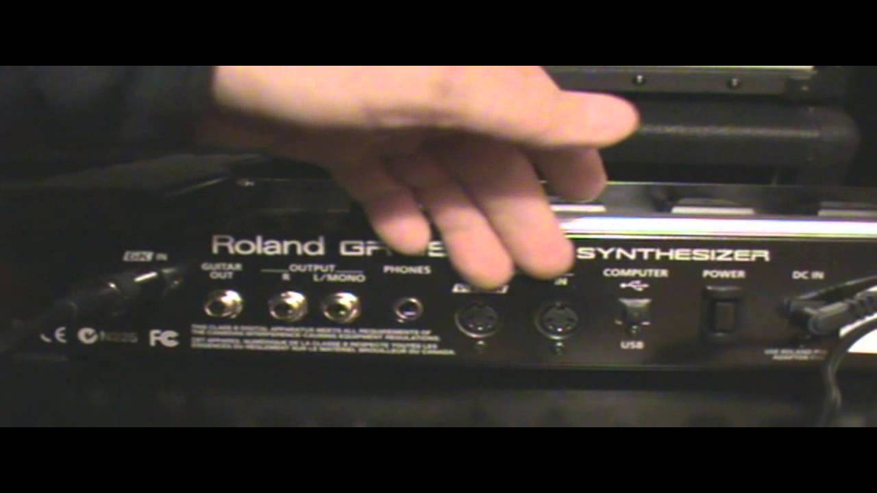 Roland Gr 55 Connections Youtube Gk 13 Pin Wiring Diagram