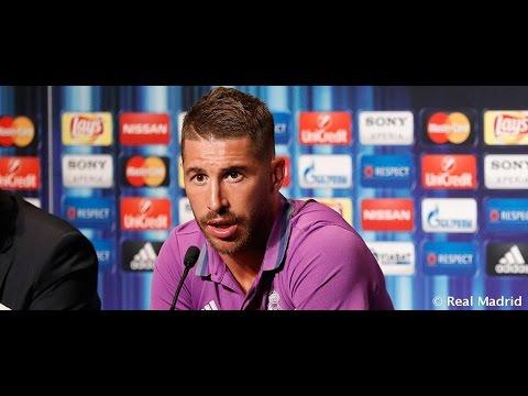 Rueda de prensa de Sergio Ramos en Noruega.