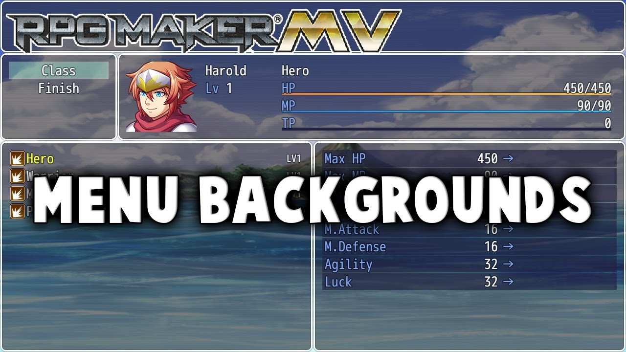 Menu Backgrounds – MV Plugin – RPG Maker MV Plugins