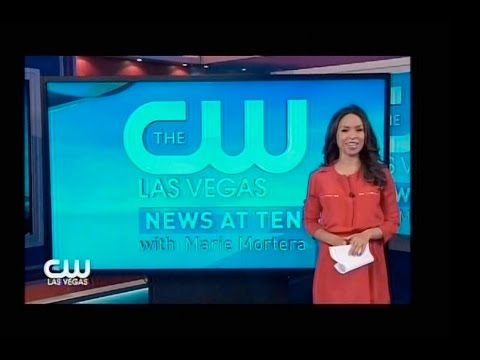 Debut: The CW News At 10, Las Vegas, Aug. 17, 2015 w/Marie Mortera