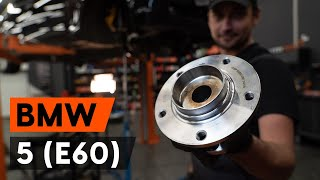 rear and front Wheel bearing kit installation BMW 5 SERIES: video manual