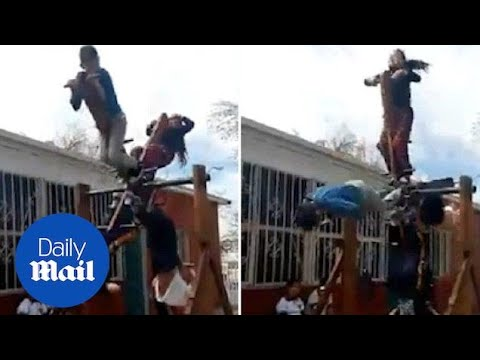 Kids Play On Dangerous 'see-saw' In School Playground - Daily Mail