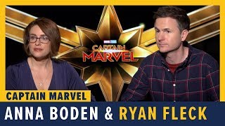 Directors Anna Boden And Ryan Fleck Talk 'Captain Marvel'