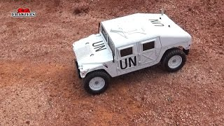 RC M1025 Hummer TA01/02 RC Truck in the scale 4x4 offroad trails