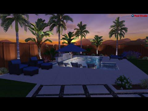 Swimming Pool & Landscape Design - 3D Video Rendering - Pool Studio - Structure Studios - California