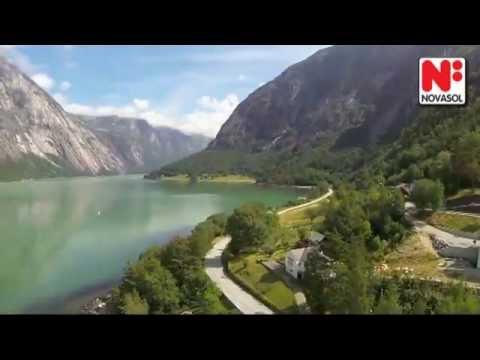Fantastisk utsikt över Hardangerfjorden