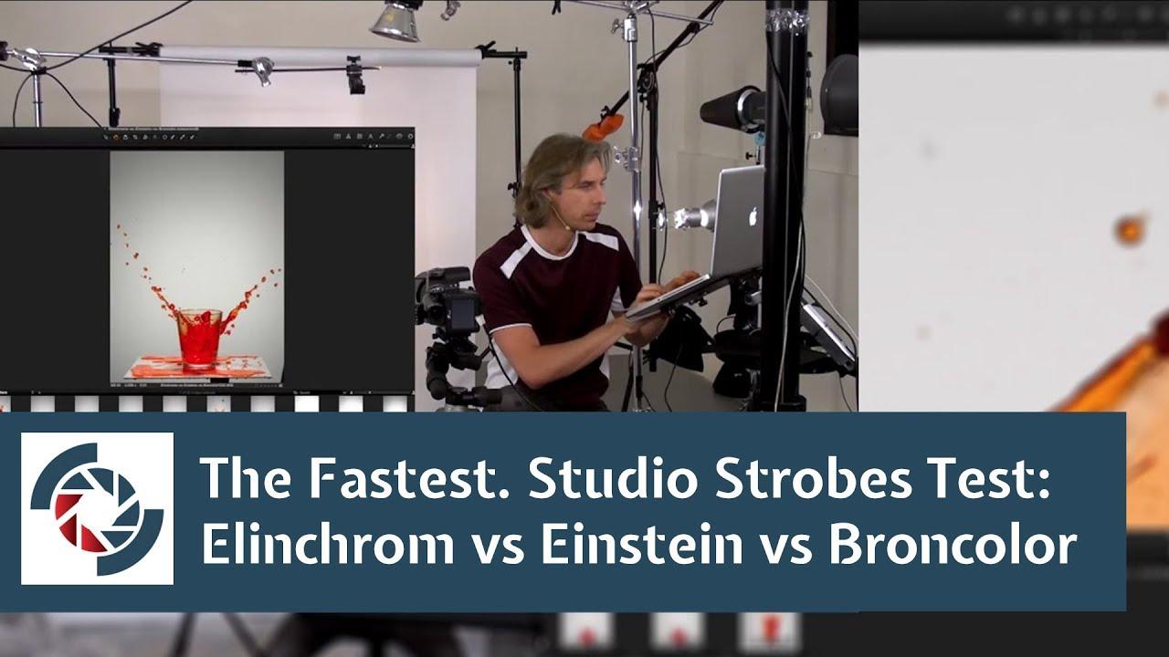 the fastest studio strobes test elinchrom vs einstein vs broncolor