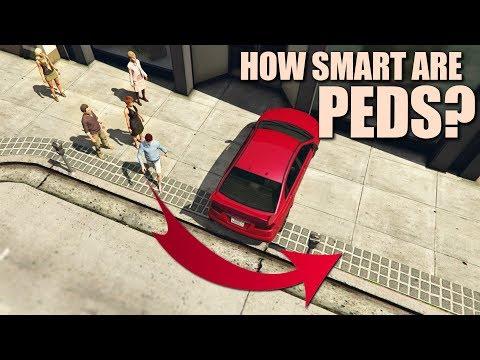 GTA V - How smart are Pedestrians?