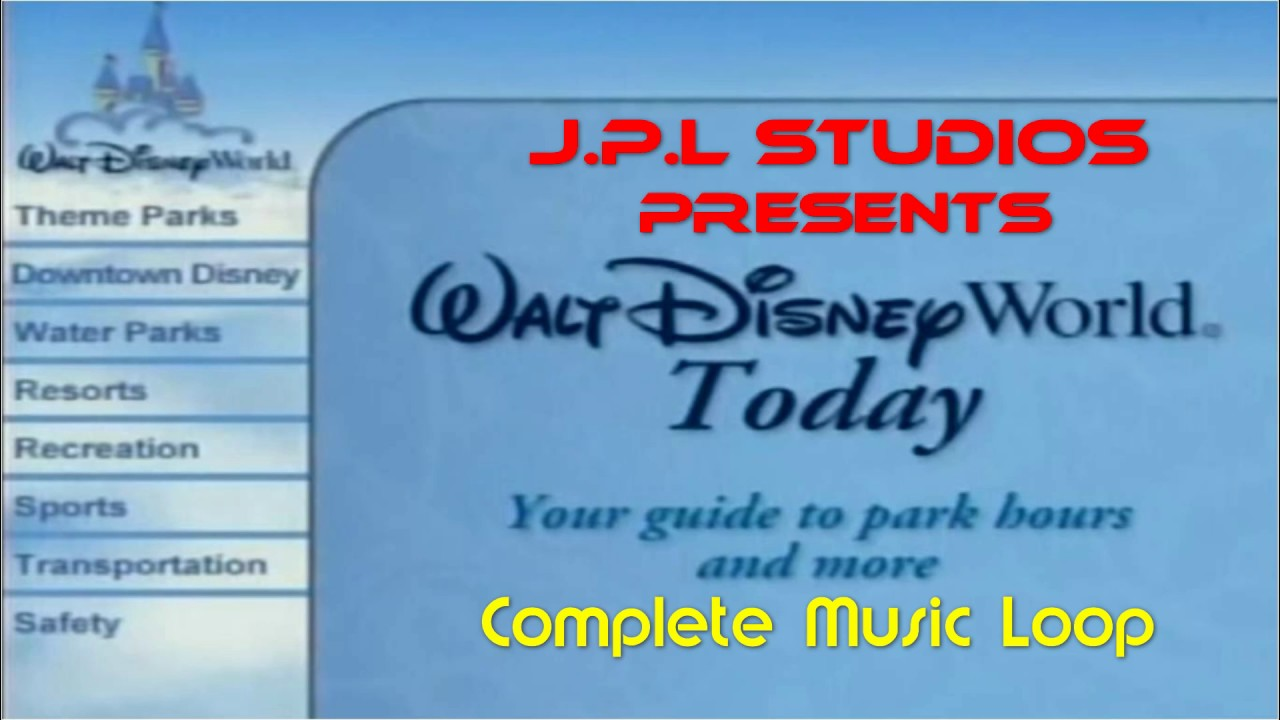 WDW Today ~ Resort TV Music Loop ~ Pre - 2015 ~ Source Audio Soundtrack -  Walt Disney World Today